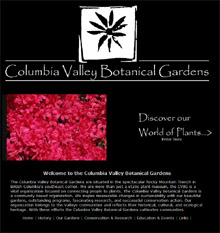 Columbia Valley new website