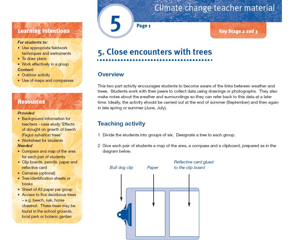 teaching activity sheet
