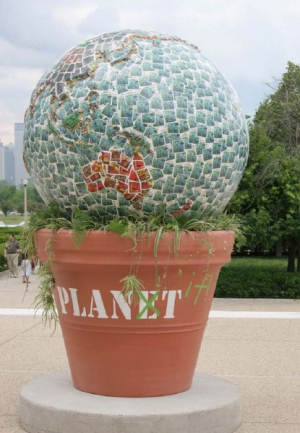 "Be inspired by Douglas Hoerr - ""Cool Globe"" comprising 2,000+ seed packets"