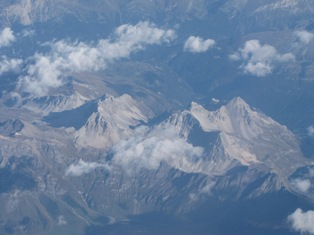 aerial mountains
