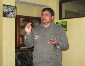 Lecturer Mr. Kedar Karki at the SEP