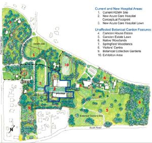 Plans for a new hospital in the Bermuda Botanic Garden